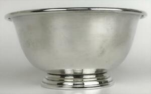 Vintage Manchester Silver Co 925 Sterling Silver Classic Revere Footed Bowl Dish