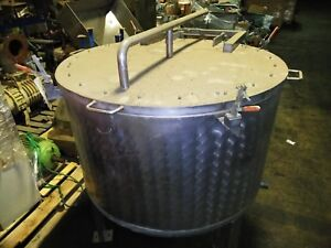 Stainless Steel Tank 30 Gal 3 Legs With Lids