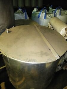 Portable Stainless Steel Tank 4 Legs wheels 237 Gal With Lids