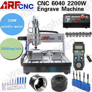 Usb Cnc 6040 4 axis Router Engraver Milling Drilling Cutting Machine 2200w