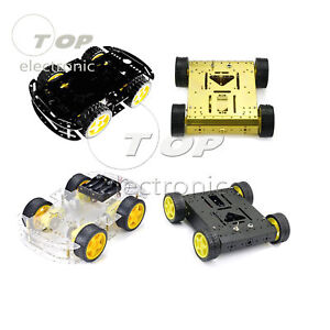 4wd Motor Smart Robot Car Chassis Kits Set W Speed Encoder Diy Arduino