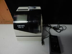 Amano Pix 75 Time Clock Digital Electronic A187 With Key