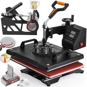 5in1 Heat Press Machine For T shirts 12 x15 Combo Kit Sublimation Swing Away