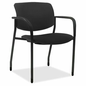 Lorell Stack Chairs With Plastic Seat Back Tubular Steel Powder Coated