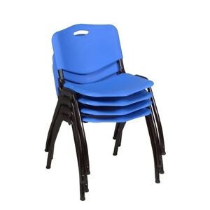 m Stack Chair 4 Pack Blue