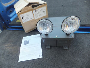New Old Stock Hubbell Dual Lite N4x4i wm Spectron Emergency Light Lighting N4x4i