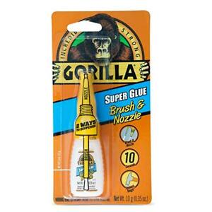 Gorilla Instant Super Glue Adhesive Nozzle Clear Rubber Strong Repair Tool
