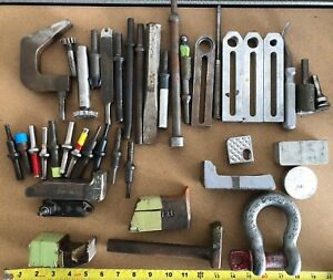 Lot Of Aircraft Tools Rivet Tool Bucking Bars Bar And More 41 Total Pieces Cnc