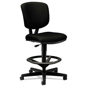 Hon Volt Series Adjustable Task Stool Black Fabric 5705ga10t