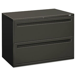 Hon 700 Series Two drawer Lateral File 42w X 19 1 4d Charcoal 792ls