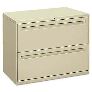 Hon 700 Series Two drawer Lateral File 36w X 19 1 4d Putty 782ll