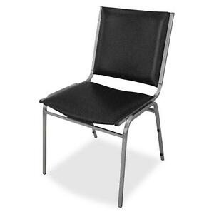 Lorell Stacking Chairs Armless 20 3 4 x19 3 8 x35 5 8 4 ct Black 62502
