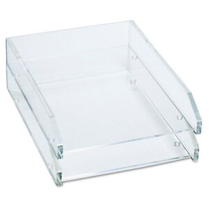 Kantek Double Letter Tray Two Tier Acrylic Clear Ad15