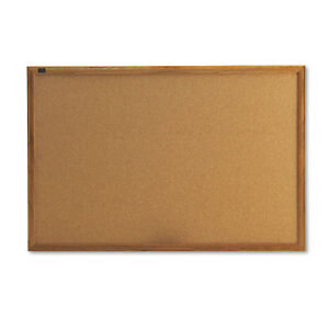 Quartet Classic Series Cork Bulletin Board 36 X 24 Oak Finish Frame 303