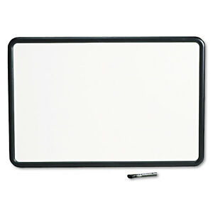 Quartet Contour Dry erase Board Melamine 36 X 24 White Surface Black Frame 7553