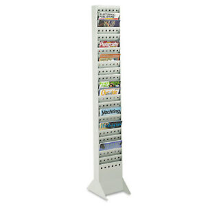 Safco Steel Magazine Rack 23 Compartments 10w X 4d X 65 1 2h Gray 4322gr