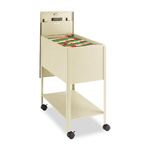Safco Extra deep Locking Mobile Tub File 13 1 2w X 24 3 4d X 28 1 4h Putty