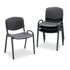 Safco Stacking Chairs Black W black Frame 4 carton 4185bl
