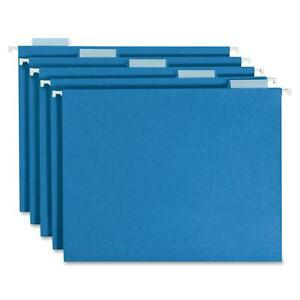 Smead Colored Hanging Folders 1 5 Tab Cut Lgl 25 bx Blue 64160