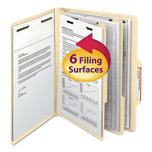 Smead Manila Classification Folders With 2 5 Right Tab Letter Six section 10 box
