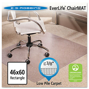 Es Robbins 46x60 Rectangle Chair Mat Multi task Series Anchorbar For Carpet Up