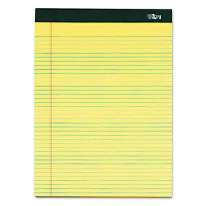 Tops Double Docket Ruled Pads 8 1 2 X 11 3 4 Canary 100 Sheets 6 Pads pack 63376