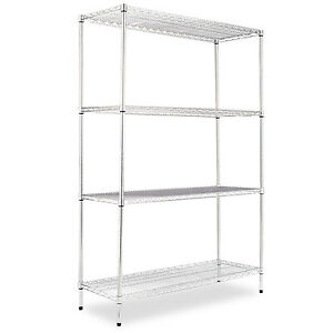 Alera Industrial Heavy duty Wire Shelving Starter Kit 4 shelf 48w X 18d X 72h