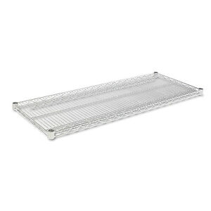 Alera Industrial Wire Shelving Extra Wire Shelves 48w X 18d Silver 2 Shelves