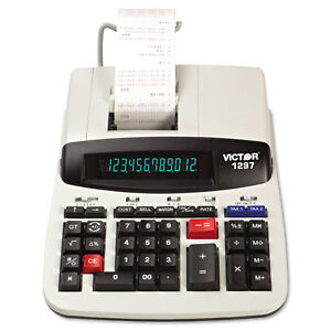Victor 1297 Two color Commercial Printing Calculator Black red Print 4 Lines sec