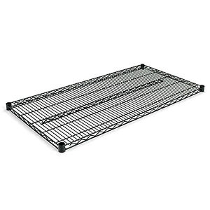 Alera Industrial Wire Shelving Extra Wire Shelves 48w X 24d Black 2 Shelves