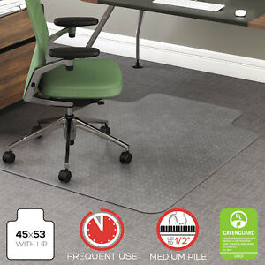 Deflecto Rollamat Frequent Use Chair Mat For Medium Pile Carpet 36 X 48 W lip