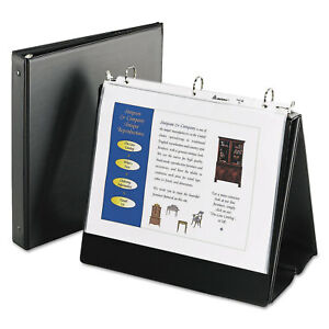 Avery Easel Presentation Durable Binder 1 Round Rings Holds 11 X 8 1 2 Paper