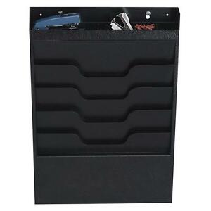 Buddy File Organizer 4 Pockets Top Section For Supplies Black 8414