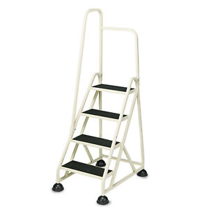 Cramer Four step Stop step Folding Aluminum Ladder W left Handrail 66 1 4 High
