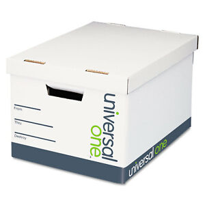 Universal Lift off Lid File Storage Box Legal Fiberboard White 12 carton 95221