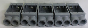 Carlon E979 Non metallic 1 gang Fscc Electrical Weatherproof Box Lot Of 5