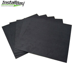 5 Pack Abs Plastic Textured Plastic Sheet 12in X 12in X 3 16in Black Smooth