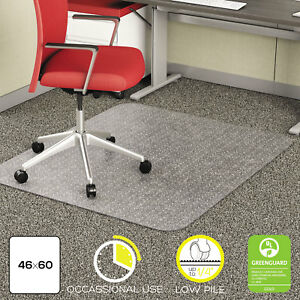 Deflecto Economat Occasional Use Chair Mat For Low Pile 46 X 60 Clear Cm11442f