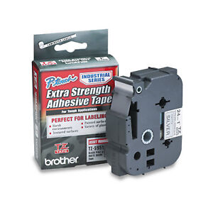 Brother P touch Tz Extra strength Adhesive Laminated Labeling Tape 1w Black On