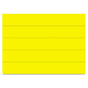 Mastervision Dry Erase Magnetic Tape Strips Yellow 6 X 7 8 25 pack Fm2503