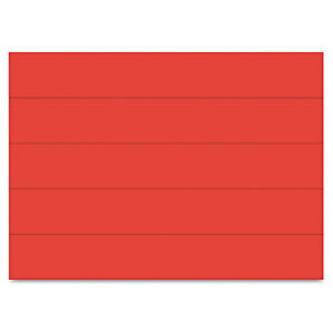 Mastervision Dry Erase Magnetic Tape Strips Red 6 X 7 8 25 pack Fm2504