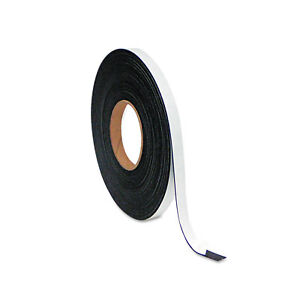 Mastervision Magnetic Adhesive Tape Roll 1 2 X 50 Ft Black Fm2321