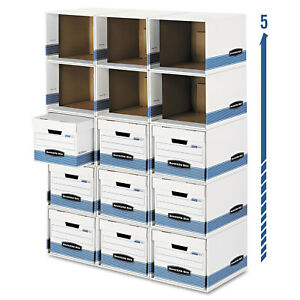 Bankers Box File cube Box Shell Legal letter 12 X 15 X 10 White blue 0162601