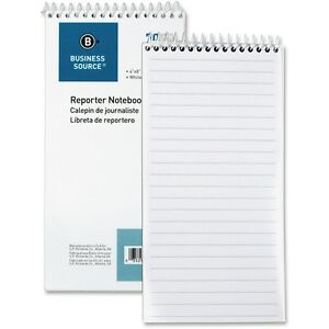 Business Source Reporter s Pocket Notebook Ruled Spiral 4 x8 70 Shts We 10972