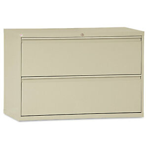 Alera Two drawer Lateral File Cabinet 42w X 19 1 4d X 28 3 8h Putty Lf4229py