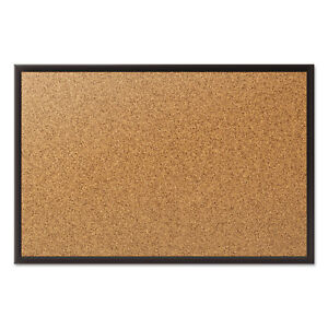 Quartet Classic Series Cork Bulletin Board 24x18 Black Aluminum Frame 2301b