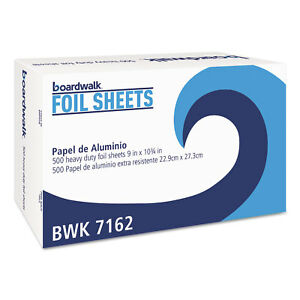 Boardwalk Pop up Aluminum Foil Wrap Sheets 9 X 10 3 4 Silver 500 box 6 Boxes