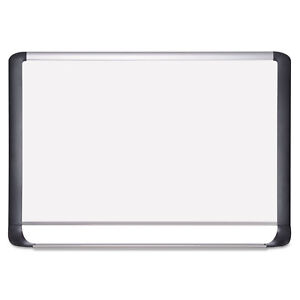 Mastervision Lacquered Steel Magnetic Dry Erase Board 48 X 72 Silver black