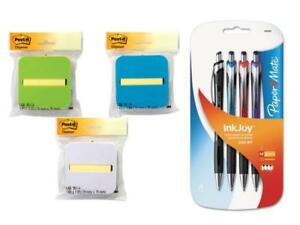 Post it Pop up Notes Dispenser With Yellow Notes 4 Pcs Ballpoint