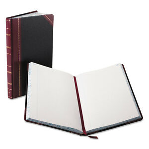 Boorum Pease Record account Book Black red Cover 300 Pages 14 1 8 X 8 5 8